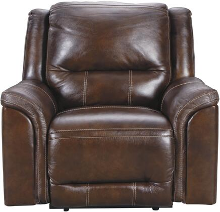 Catanzaro U83004-13 Reclining Chair with Power Recliner  Adjustable Headrest and 100% Genuine Top Grain Leather Upholstery in