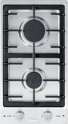 CS1012-1LP 12 Double Cooktop with Stainless Steel Control Knob  Sealed Burners  Electric Spark Ignition and Cast Iron Grate  in Stainless