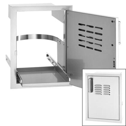 53820-TSR Flush-Mounted Series Single Access Door with Tank Tray Louvers and Right Door Hinge: Stainless