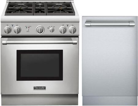 2-Piece Stainless Steel Kitchen Package with PRL304GH 30