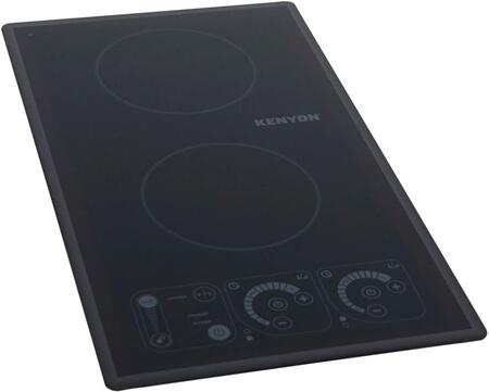 B81321 12 inch  Silken 2 Induction Cooktop with 2 Burners  Silicon Non-Slip Mat  Touch Controls  Hot Surface Indicator  and Control-Lock  in