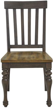 Dunmore Collection 10104 24 inch  Side Chair with Turned Legs  Slat Back  Saddle Seat  Selected Hardwood Construction in Brown