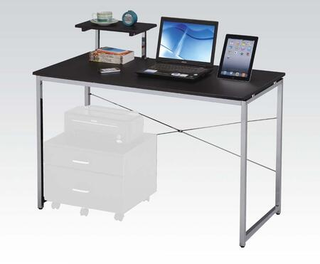 Ellis Collection 92086 47 inch  Computer Desk with Shelf  Rectangular Shape and Metal Frame Construction in Black