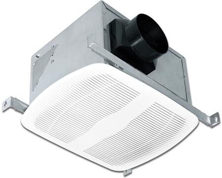 AK80LS-1 Exhaust Fan with 80 CFM  23 Gauge Galvanized Steel Housing  and Polymeric Grill  in