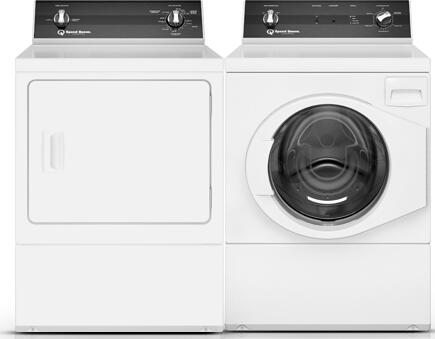 White Laundry Pair with FR3001WN Front Load Washer and DR3000WG Gas