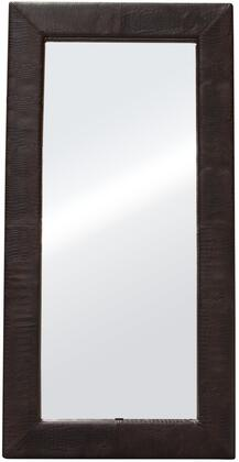 Luxe FLUXEMIBRCR 2 inch  x 78 inch  Free-Standing Mirror w/ Locking Easel Mechanism in Brown Croc