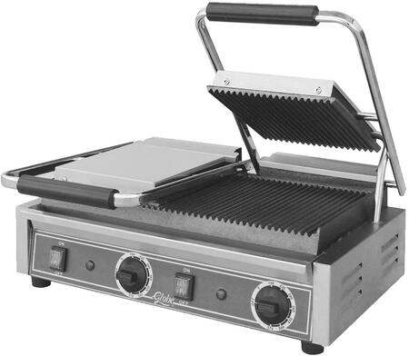 GPGDUE10 Bistro Series Double Sandwich Grill with Grooved Plates  8.25