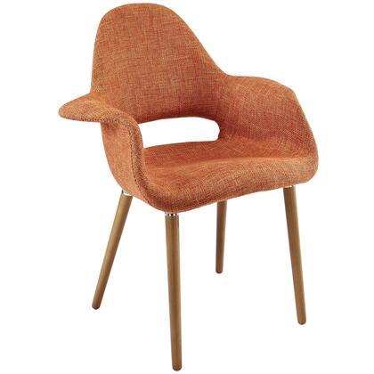 Aegis Dining Armchair in Orange EEI-555-ORA