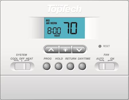 TT-P-411 PTAC 5-2 day Programmable Heat/Cool Thermostat with backlighting   F/ C  1-Stage Heat/1-Stage