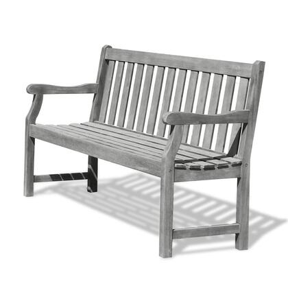 V1620 Renaissance Eco-Friendly 5-Foot Outdoor Garden Bench  Hand-Scraped