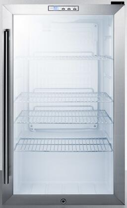 Summit SCR486LBI Beverage Refrigeration, Glass/Black