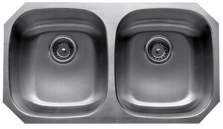 CMU3318-88 Craftsmen Series Stainless Steel Double Bowl Undermount