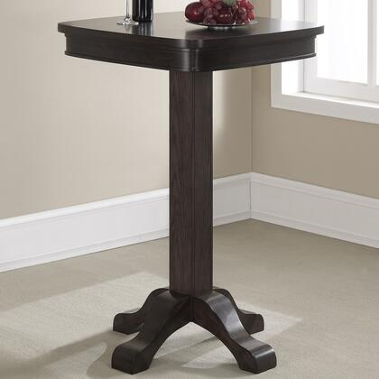 100533RB Sarsetta Series Pub Table with Footed Pedestal  Oak Veneer Top  Rubberwood Base and Square Shaped Top: