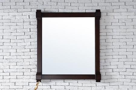 Brittany Collection 650-M35-BNM 35 inch  x 39 inch  Mirror with Solid Kiln-Dried Wood Frame and Molding Details in Burnished