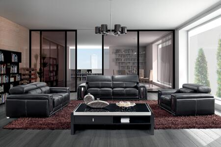 Vgbn2992 Divani Casa 2992 Modern Black Leather Sofa Set With