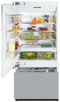 "KF 1913 SF 36"" Energy Star Fully Integrated Bottom Freezer Refrigerator with 18.28 cu. ft. Capacity Adjustable Spill Proof Drop and Lock Shelves  SmartFresh"
