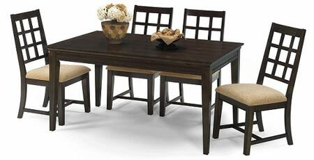 Casual Traditions Collection P107-RECTDT4SC 5-Piece Dining Room Sets with Rectangular Dining Table and 4 Side Chairs in