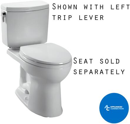 CST474CUFRG#01 Vespin II Series Two-Piece Elongated 1G Toilet with Vitreous China Construction  Tornado Flush System  and CeFiONtect Ceramic