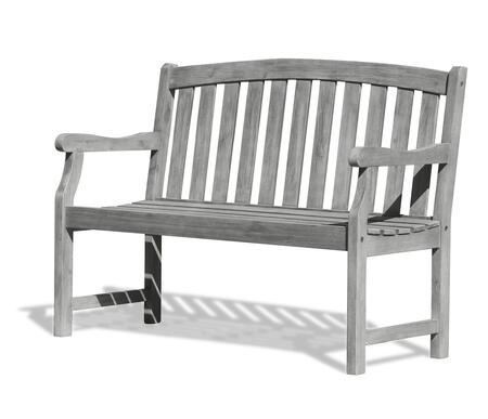 V1622 Renaissance Eco-Friendly 4-Foot Outdoor Garden Bench  Hand-Scraped