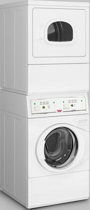 UTGE5ASP113TW01 Commercial On-Premise Stacked Washer and Gas Dryer with 3.42 cu. ft. Washer Capacity  7 cu. ft. Dryer Capacity  Electronic Homestyle Control 825722
