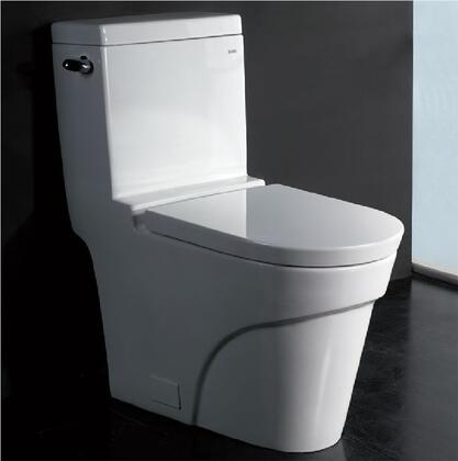 "TB326 Low Flush Eco-Friendly Ceramic Toilet with Porcelain  Large 2"" Fully Glazed Trap  Balanced Water Distribution  Wide Water Surface  Powerful and Efficient"