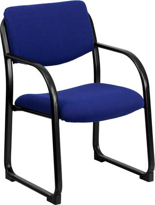 BT-508-NVY-GG Navy Fabric Executive Side Chair with Sled