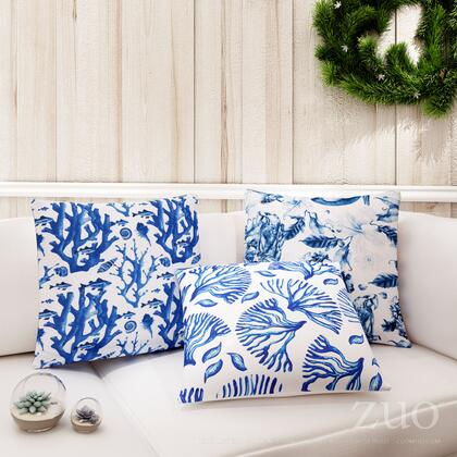 A11107 Ramo Blue Pillow Blue &