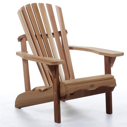 AA21 Adirondack Chair With Form Fitting Seat  Oversized Arm Paddles  Contoured Back Support  and Western Red Cedar