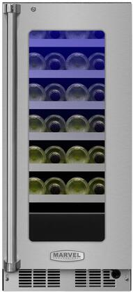 Marvel MP15WSG4RS Professional 15 Stainless Steel And Glass Single Zone Wine Refrigerator