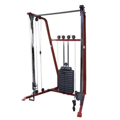 BFFT10R Best Fitness Functional Trainer with Small Footprint and Integrated Straight Chinning Bar  in