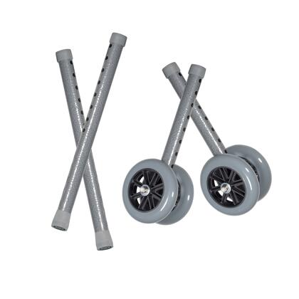 10118csv Heavy Duty Bariatric Walker Wheels  With Extension Legs  5  1