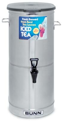 34100.0001 TDO-5 Cylinder Style Iced Tea and Coffee Dispenser With Solid Lid  Faucet Handle  Sump Dispense Valve  in