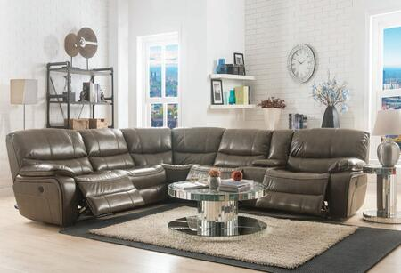 Brax Collection 52070SET 3 PC Living Room Set with Sectional Sofa  Coffee Table and End Table in Taupe