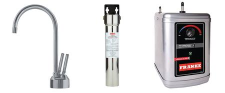 LB8280-FRC-3HT Faucet Set with LB8280 Hot & Cold Filtered Water Dispenser  FRCNSTR Filter Canister with Housing and HT300 Little Butler Heating