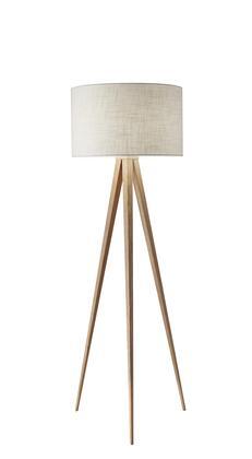 6424-12 Director Floor Lamp  Natural Wood