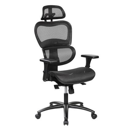 RTA-5004-BK High Back Mesh Office Executive Chair With Neck Support In