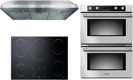 3-Piece Stainless Steel Kitchen Package with VECTI365 36 inch  Induction Smoothtop  VEBIEM3030DSS 30 inch  Electric Double Wall Oven  and VEHOOD3610 36 inch  Under Cabinet