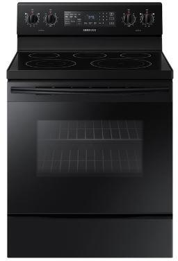 "NE59M4320SB 30"" Freestanding Electric Range With Fan Convection  5.9 cu. ft. Capacity  Warming Center  Hidden Bake Element  Storage Drawer  Wide View Window"