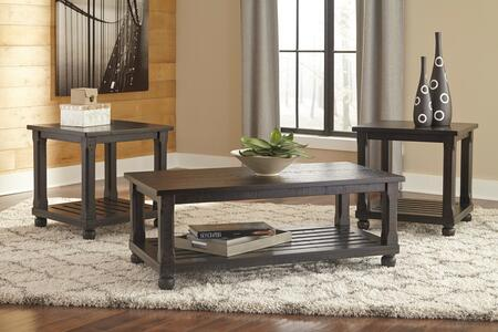 Mallacar T145-13 3-Piece Occasional Table Set with Cocktail Table and 2 End Tables in