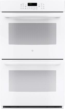 "GE JT5500DFWW 30"" Built-In Double Electric Convection Wall Oven White"