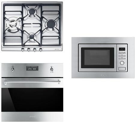 3-Piece Kitchen Package with SR60GHU3 24 inch  Gas Cooktop  SU45MCX1 24 inch  Single Wall Oven  and KUMI20XU 24 inch  Built In