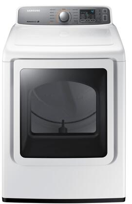 DV48H7400EW 7.4 cu. ft. Electric Dryer with Moisture Sensors  11 Drying Cycles  Steam Cycle  4 Dry Levels  4 Temperature Settings in