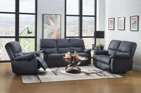 Saul II Collection 539805SET 5 PC Living Room Set with Motion Sofa  Motion Loveseat  Recliner  38