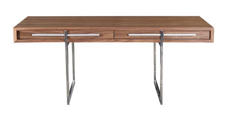 DESK-1340-WAL Nissen And Gehl Style Ak-1340 Desk  Mid-Century Modern  Walnut