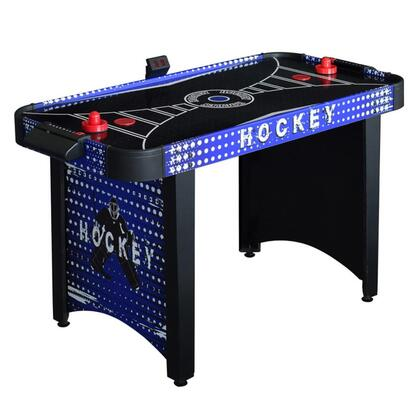 NG4015H Predator 4' Air Hockey Table with CARB Certified MDF Play Surface  L-Shaped Legs  Electric Blower and Built-In Goal Boxes with Manual and Electronic