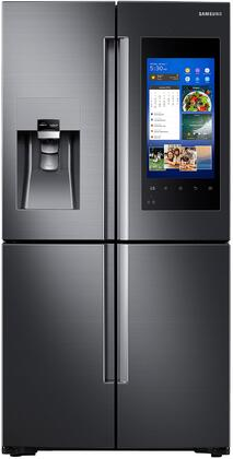 """RF22M9581SG 36"""" French 4 Door Refrigerator with 22 cu. ft. Capacity  Family Hub  Food Management Camera  EZ Slide-Out Shelves  External Water and Ice Dispenser"""