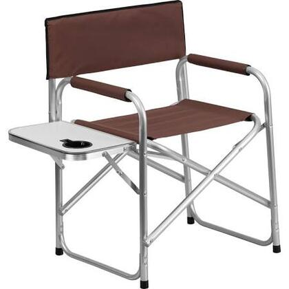 TY1104-BN-GG Aluminum Folding Camping Chair with Table and Drink Holder in