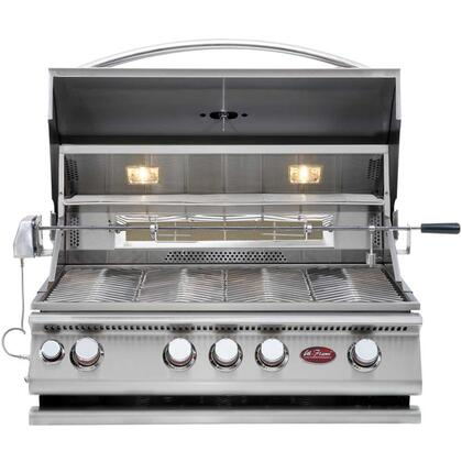 BBQ13874CP Built-In 4 Burner Convection Grill with 60 000 BTUs of Heat  800 sq. in. Cooking Surface  Lights  and Thermometer  in Stainless 356708