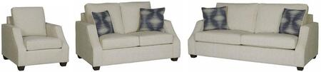 Hadley U2051-SLC 3-Piece Living Room Set with Stationary Sofa  Loveseat and Chair in