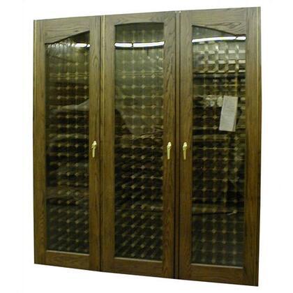 VINO-900PRO-RB Three Door Provincial Oak Wine Cooler Cabinet with 560-Bottle Capacity  Rich